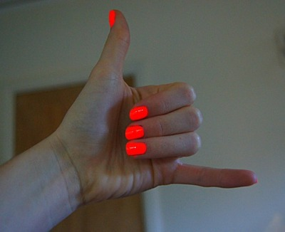 Tumblr #0: bright music color perfect colorful love summer fashion neon fun infinity nail polish neon nails nails orange style teen teenager Favim