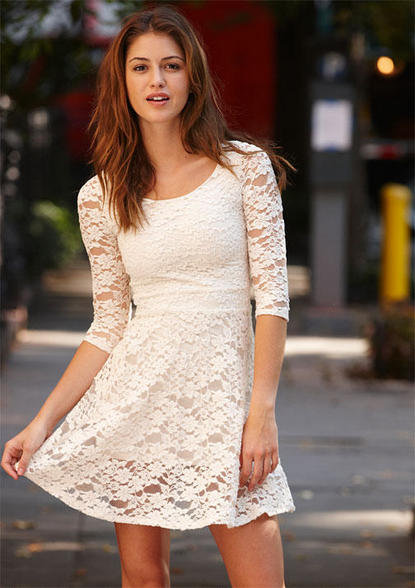 Tumblr White Lace Dress Lace Outfit White Dress