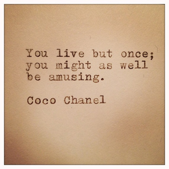 Coco Chanel Quotes On Life