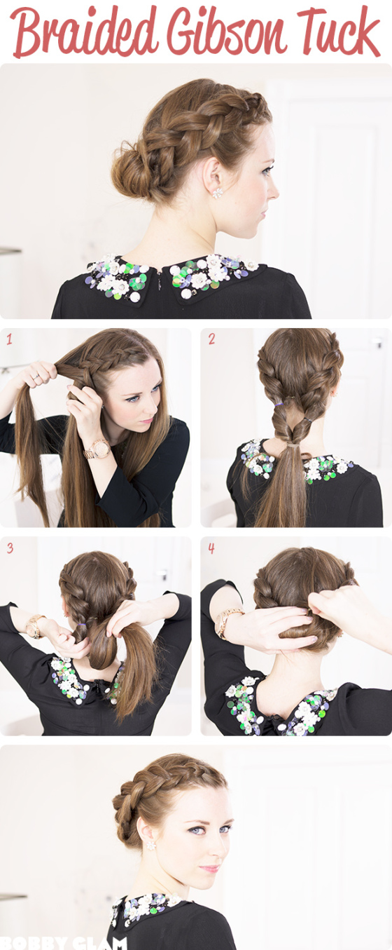Diy braided gibson tuck hairstyle diy fashion tips image Diy fashion of hairstyle