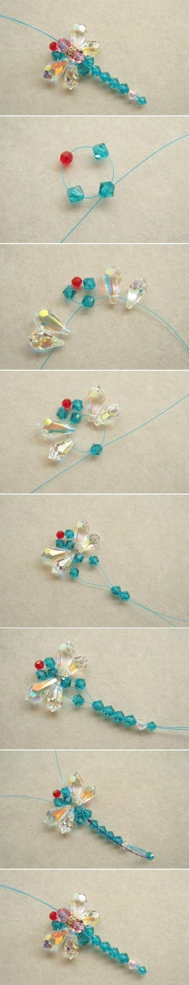 beaded, beads, diy and dragonfly