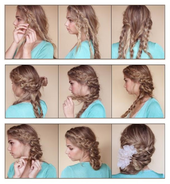 Diy bohemian braided updo hairstyle diy fashion tips Diy fashion of hairstyle