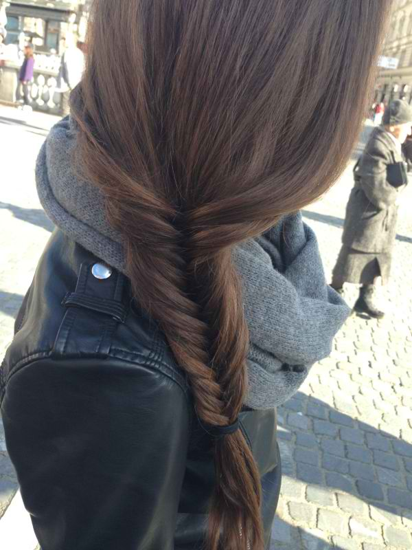 braid, fashion, fishtail, girl, hair, long, style