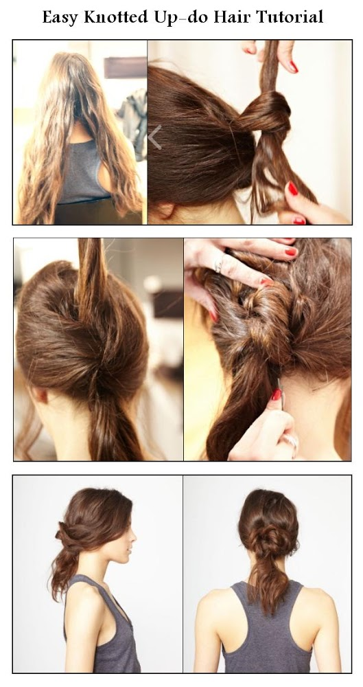 Diy Easy Knotted Updo Hair Hairstyle Diy Fashion Image 793479 By Usefuldiy On