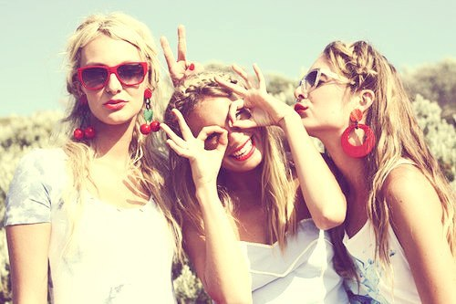 friends, girls, happiness, laugh, love, summer, sun