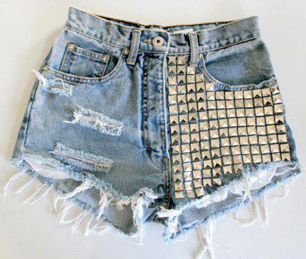 a, jeans, short, shorts, stud, style, summer