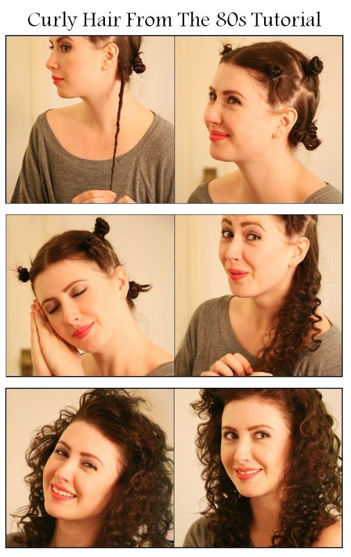 DIY Curly Hair From The 80s Hairstyle DIY Fashion Tips | DIY Fashion