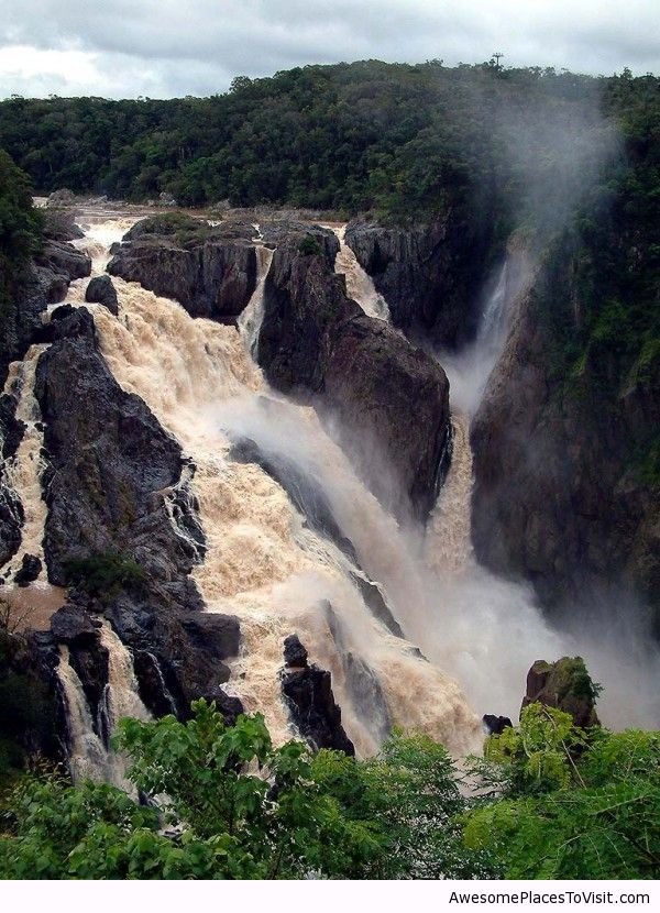 Barron falls in australia awesome place to image for Awesome places to vacation