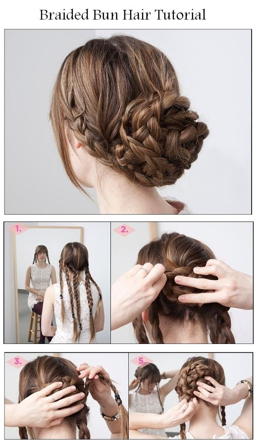 DIY Braided Bun Hair Hairstyle DIY Fashion Tips DIY Fashion Projects
