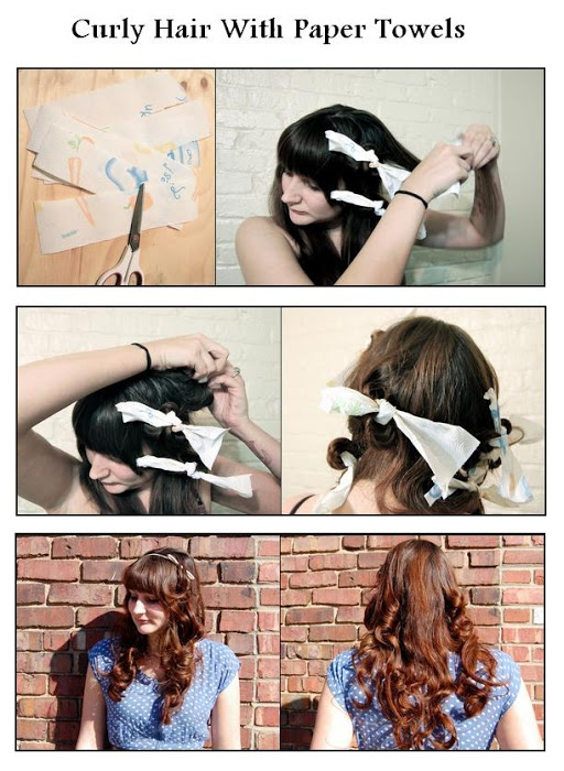 DIY Curly Hair With Paper Towels Hairstyle DIY Fashion Tips | DIY