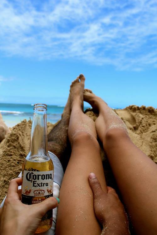 beach, beer, day, drink, enjoy, girl, goodlife, holiday, laugh, legs