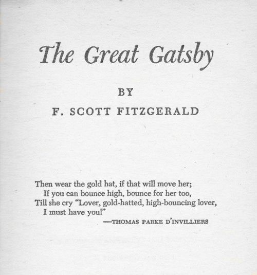 the use of wealth in the great gatsby by f scott fitzgerald F scott fitzgerald achieved fame in his own lifetime, in no small part due to the   the great gatsby is peopled with beautiful and wealthy characters -- the type.