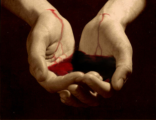 blood, bloody, grunge, hands, horror, red