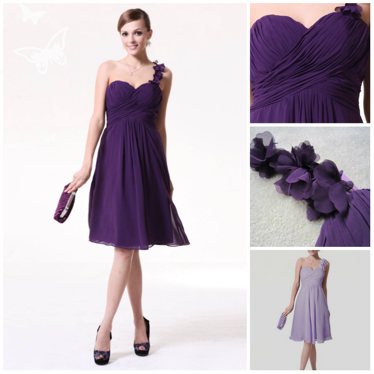 Purple Bridesmaid Dresses Cheap