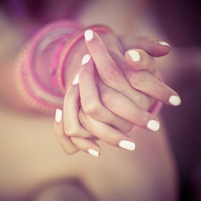 hands, nails, white