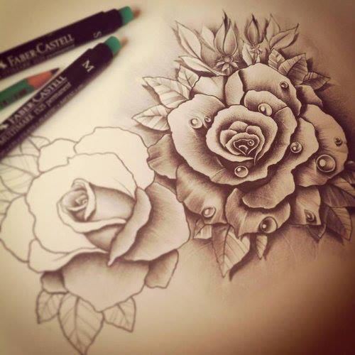 Alternative fashion via facebook image 825569 by for Amazing drawings of roses