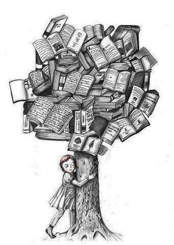 black and white, books, drawing, pencil Books Photography Tumblr Black And White