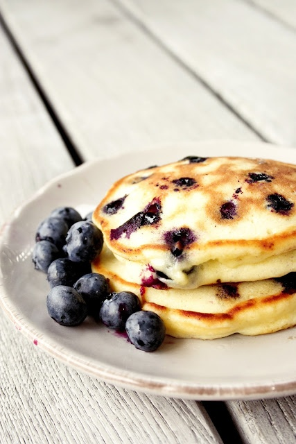 blueberries, blueberry pancakes, food and food porn