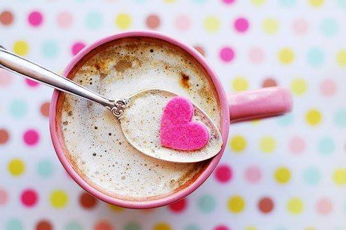heart, cooffe, pink