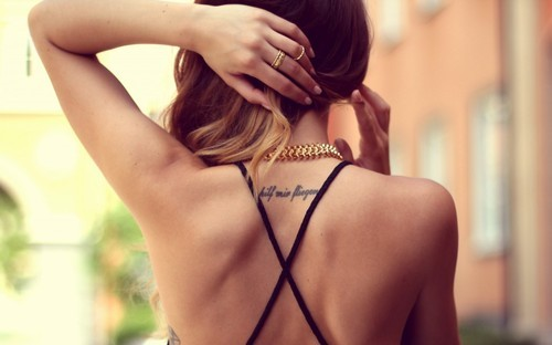 back, young, beautiful, hair, clothes