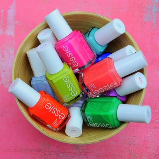 collection, nail polish, neon, essie