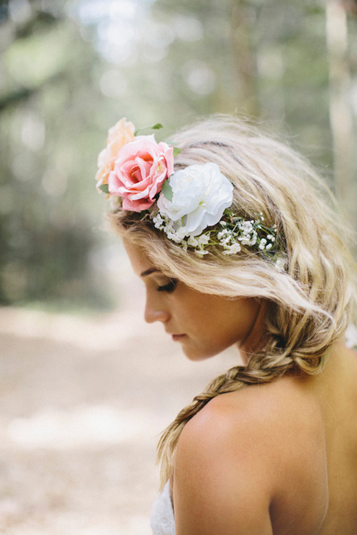 blond, flowers, girl, hair, nature, rose, summer, tan