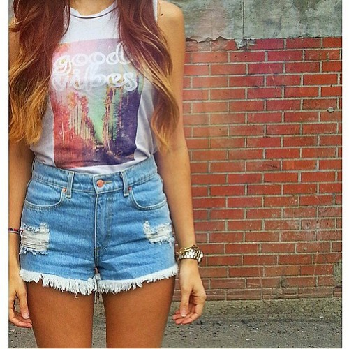 High waisted shorts | Tumblr - image #839577 by kristy_22 on Favim.com