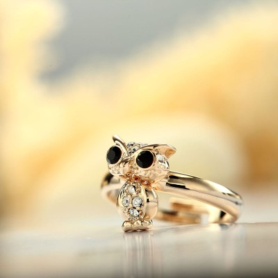 animal rings, fashion owl rings, gold owl rings and owl adjustable rings