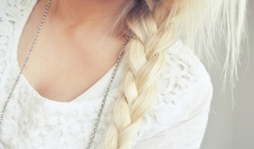 blonde, braid, hair, lace, like, love, summer, white