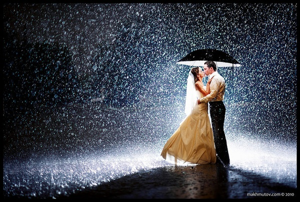 rain romantic love cou...