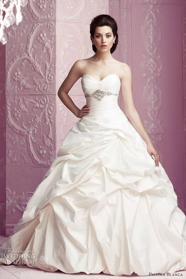 a line wedding dress 2013