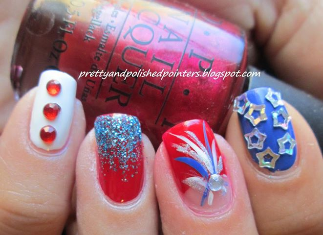 4th of july, bling, fireworks and glitter