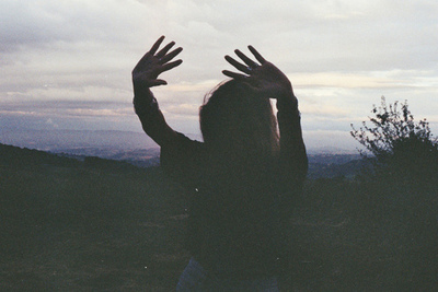 clouds, girl, hands, hipster, indie, inspirational, sky, vintage
