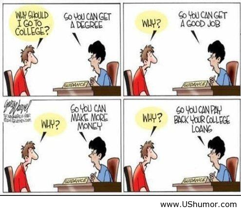 Why I Should Go To College Funny Us Image 850637 By