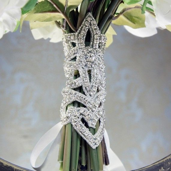 How To Use Bridal Bouquet Holder : Sparkling bouquet holder my great gatsby wedding image