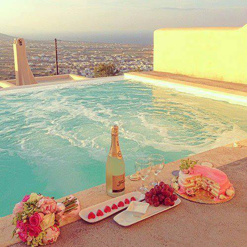 i want,  cake,  flowers,  lovely,  awesome,  swimming pool,  strawberries