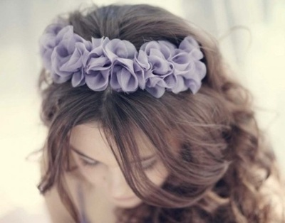 beautiful, brown, flowers, girl, hair, pls dont curse, purple, or else pay the penalty