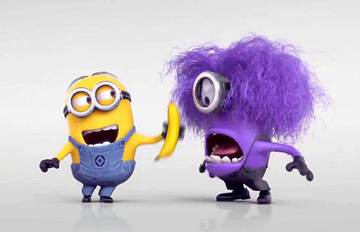 me  funny  laughing  minions  purple  xd  yellow  despicable me 2Purple Minions Despicable Me 2