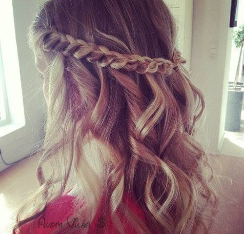 blonde, braid, curls, hair, lovely