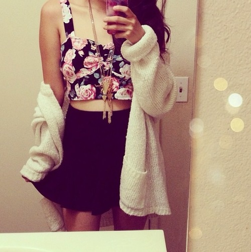 fashion, skirt, girl, girly, outfit, style, sweater, top