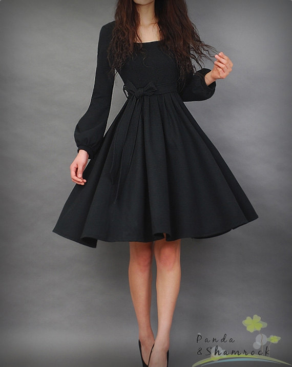 adorable, black, dress, fashion, long hair, photography