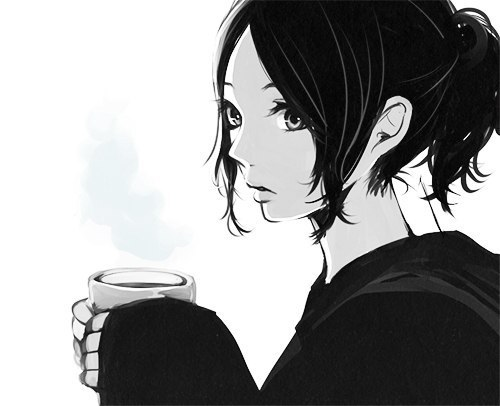 anime-girl-black-and-white-coffee-cup-mo