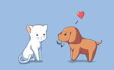 cute, doggy, hearts, kawaii, kitty, love