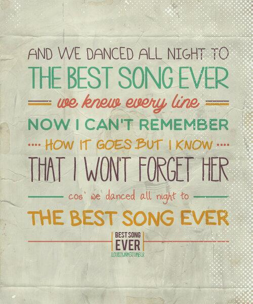 D Best Song Ever Lyrics think happy thoughts |...