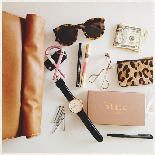 beauty, cute, sunglasses, girly, makeup, stila