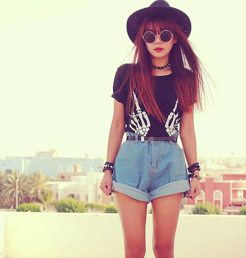Tumblr girls hipster fashion