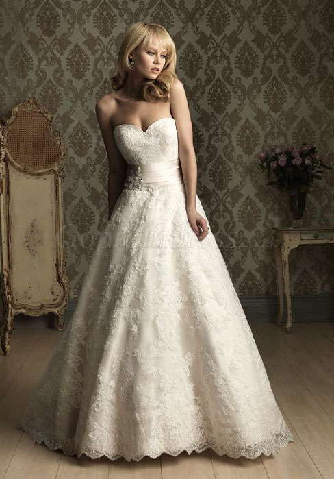 a-line, lace, wedding dresses and white