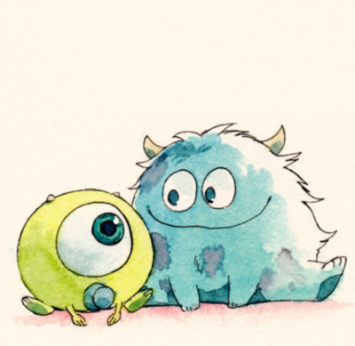 monster inc, draw, cute | via Tumblr - image #882736 by awesomeguy on ...