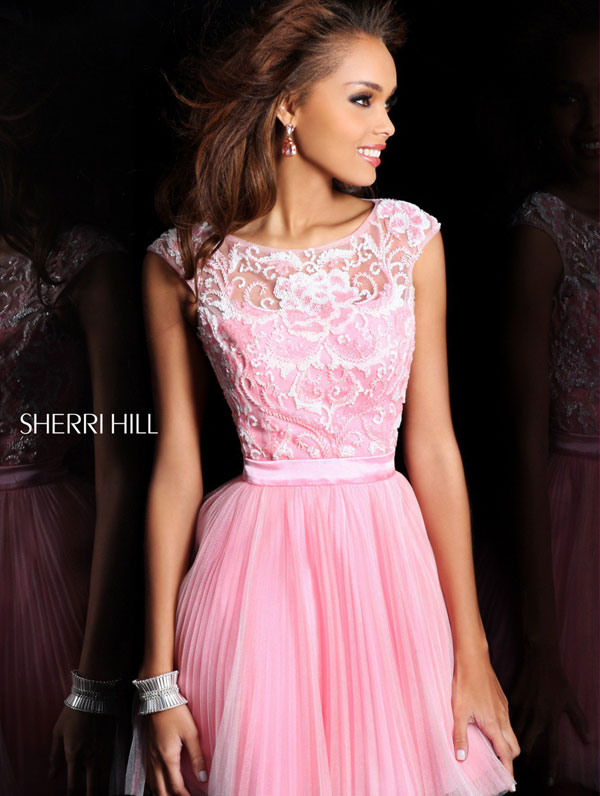 2013 sherri hill 21167 pink light pink homecoming image