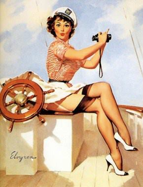 barco, gil elvgren, mar and pin up